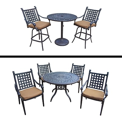 Darby Home Co Arness 8 Piece Dining Set and Bar Set