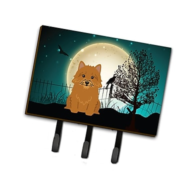 The Holiday Aisle Halloween Scary Norwich Terrier Leash or Key Holder