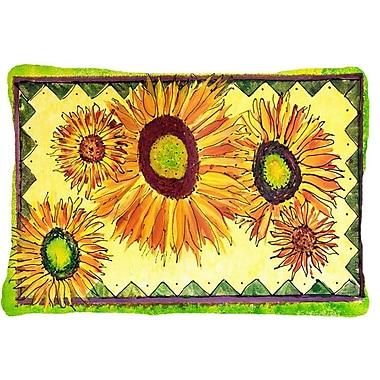 August Grove Landon Rectangular Sunflower Indoor/Outdoor Throw Pillow
