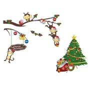 RetailSource A Friendly Forest Christmas Wall Decal