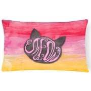 East Urban Home Cat Face Meow Watercolor Lumbar Pillow