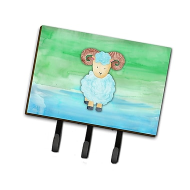 East Urban Home Ram Sheep Watercolor Leash or Key Holder