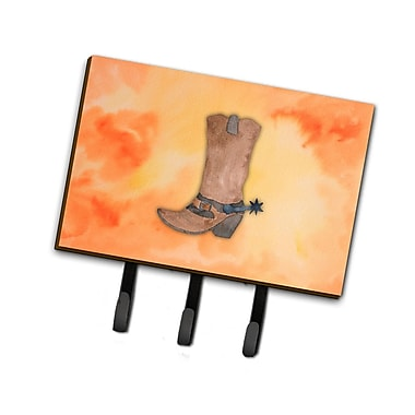 East Urban Home Cowboy Boot Watercolor Leash or Key Holder