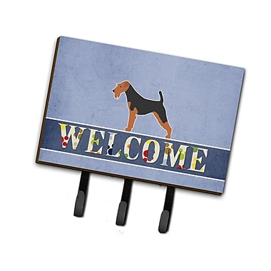 East Urban Home Airedale Terrier Welcome Leash or Key Holder