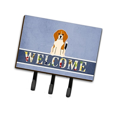 East Urban Home Beagle Welcome Leash or Key Holder