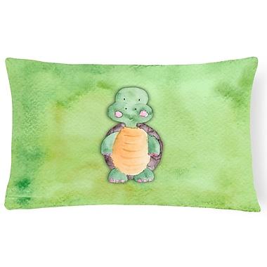 Zoomie Kids Baxter Turtle Watercolor Lumbar Pillow