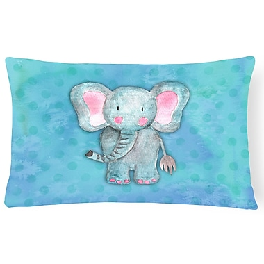 Zoomie Kids Aurora Elephant Watercolor Lumbar Pillow