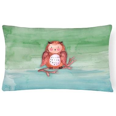 Zoomie Kids Webster Owl Watercolor Lumbar Pillow