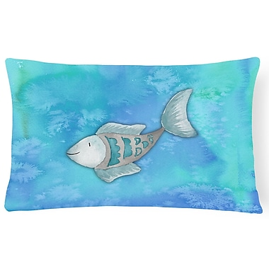 Zoomie Kids Bella Fish Watercolor Lumbar Pillow