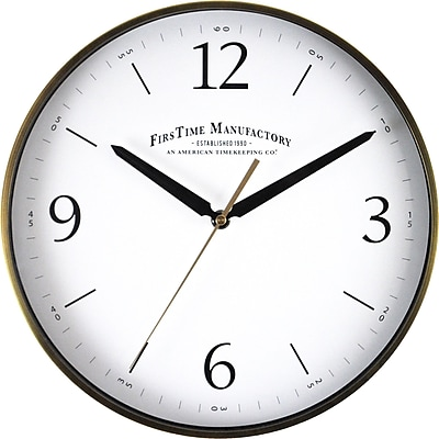 Alcott Hill Metal 12'' Wall Clock