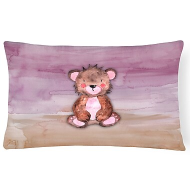 Zoomie Kids Warner Bear Cub Watercolor Lumbar Pillow