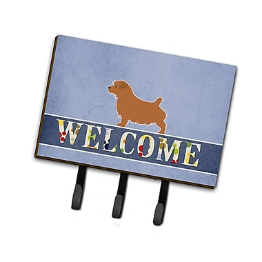 East Urban Home Norfolk Terrier Welcome Leash or Key Holder