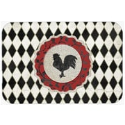 August Grove Jaiden Rooster Harlequin Glass Cutting Board