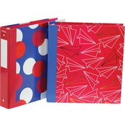 "Hilroy® Gold Bold Casemade 1.5"" Binder, 2 Designs, Red/Blue"