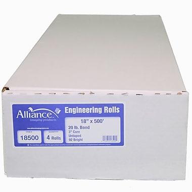 TST – Rouleau de papier bond d'ingénierie non collé, 18 larg. po x 500 long. pi, 4/paquet (18500)