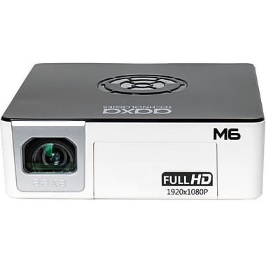 AAXA M6 Full HD Pico Projector, 1200 lm, 90-minute Battery, 30000 hour LED, Onboard Media Player (MP-600-01)