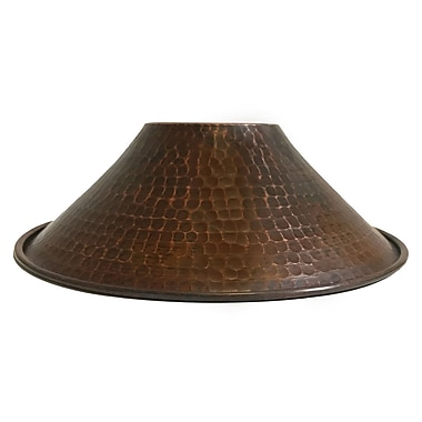 Bloomsbury Market Hand Hammered Cone Pendant Light 9'' Metal Empire Lamp Shade