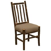 Fireside Lodge Simply Hickory Bistro Upholstered Dining Chair; Stagecoach Brown