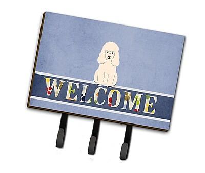 East Urban Home PoodleWelcome Leash or Key Holder; White