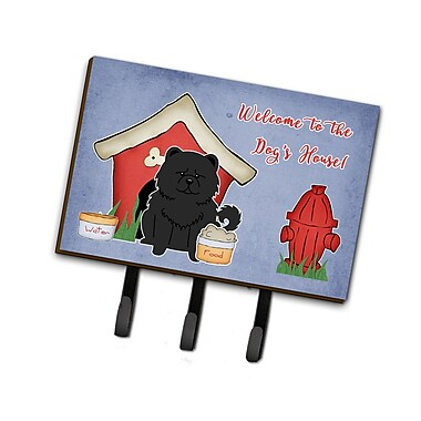 East Urban Home Dog House Chow Chow Leash or Key Holder; Black