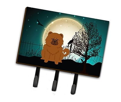 The Holiday Aisle Halloween Scary Chow Chow Leash or Key Holder; Yellow