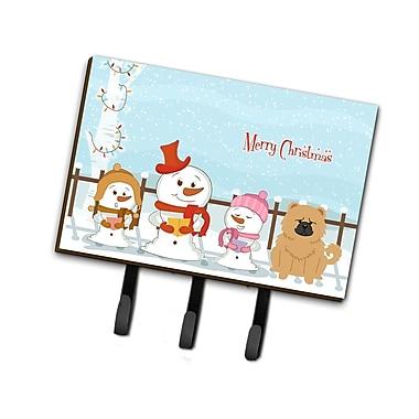 The Holiday Aisle Merry Christmas Carolers Chow Chow Leash or Key Holder; Gloss