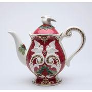 The Holiday Aisle Fantasia Christmas Earthenware Teapot