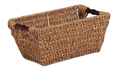 August Grove Seagrass Basket; Small