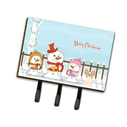 The Holiday Aisle Merry Christmas Carolers Papillon Leash or Key Holder; Sand