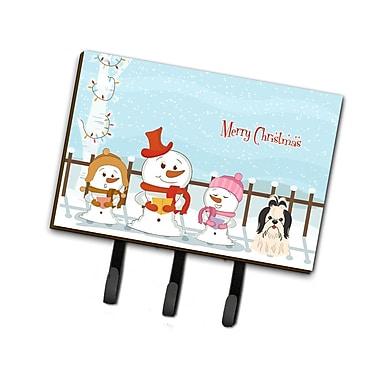 The Holiday Aisle Merry Christmas Carolers Shih Tzu Leash or Key Holder; Black / White