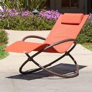 Latitude Run Kimmel Original Orbital Zero Gravity Chair; Orange