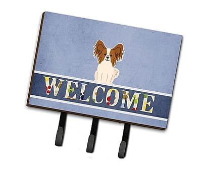 East Urban Home Papillon Welcome Leash or Key Holder; Sable