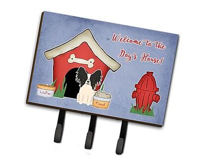East Urban Home Dog House Papillon Leash or Key Holder; Black/White