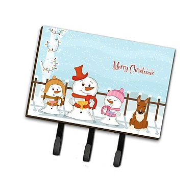 The Holiday Aisle Christmas Bull Terrier Leash or Key Holder; Yellow/White