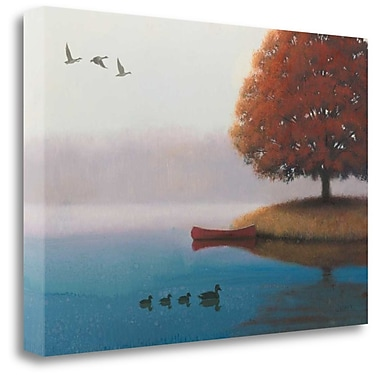 Tangletown Fine Art 'Early in the Morning' Graphic Art Print on Wrapped Canvas; 32'' H x 48'' W