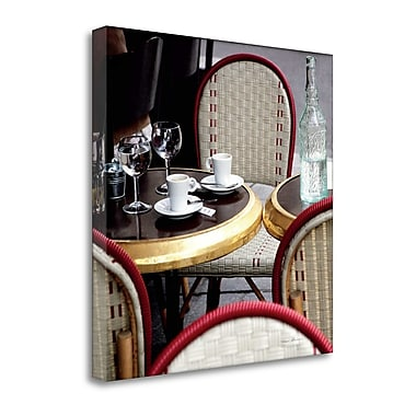 Tangletown Fine Art 'Outdoor Cafe' Photographic Print on Canvas; 23'' H x 23'' W