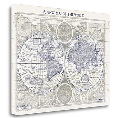 Tangletown Fine Art 'A New Map of the World' Graphic Art Print on Canvas; 21'' H x 29'' W
