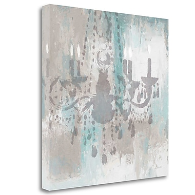 Tangletown Fine Art 'Candelabra Teal I' Print on Canvas; 30'' H x 30'' W