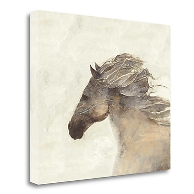 Tangletown Fine Art 'Into the Wind Ivory' Print on Canvas; 28'' H x 33'' W