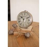 Union Rustic Round Tabletop Clock