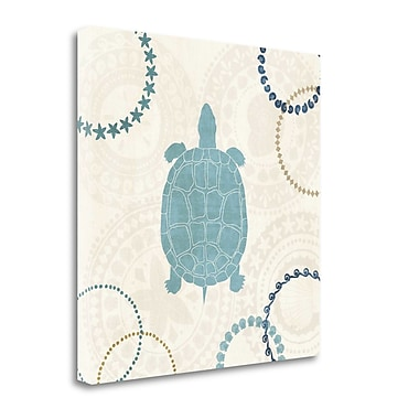 Tangletown Fine Art 'Undersea Blue IV' Graphic Art Print on Wrapped Canvas; 30'' H x 30'' W