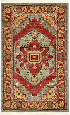 World Menagerie Lerma Red Area Rug; 3'3'' x 5'3''