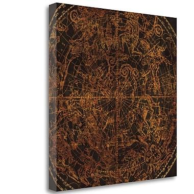 Tangletown Fine Art 'Northern Celestial Sphere Vintage' Graphic Art Print on Canvas; 20'' H x 20'' W