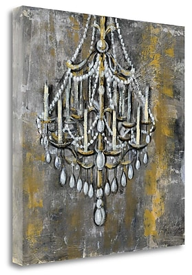 Tangletown Fine Art 'Vintage Chandelier I' Print on Wrapped Canvas; 35'' H x 35'' W
