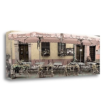 Tangletown Fine Art 'Val Orcia Caffe Pano - 1' Photographic Print on Wrapped Canvas; 12'' H x 34'' W
