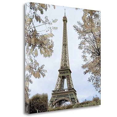 Tangletown Fine Art 'Tour Eiffel au Printemps' Photographic Print on Wrapped Canvas; 25'' H x 25'' W