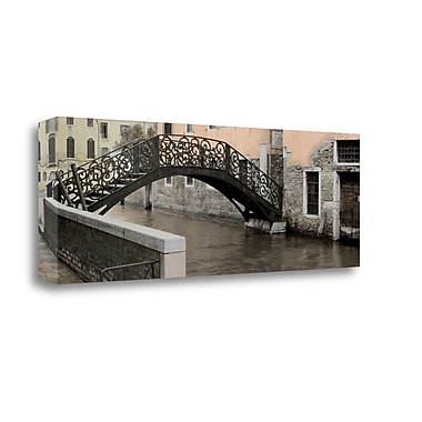 Tangletown Fine Art 'Venetian Bridge Pano - 1' Photographic Print on Wrapped Canvas; 12'' H x 34'' W