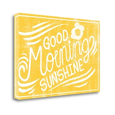 Tangletown Fine Art 'Good Morning Sunshine' Textual Art on Canvas; 23'' H x 34'' W