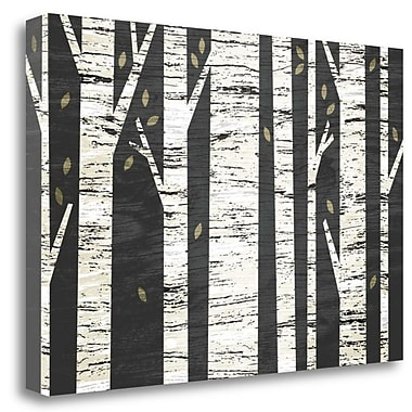 Tangletown Fine Art 'Birch Forest' Graphic Art Print on Wrapped Canvas; 23'' H x 34'' W