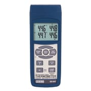 REED SD-947 SD Series Thermocouple Thermometer, Data logger, 4 Channel, Type K, J, R, S, E, T and RTD